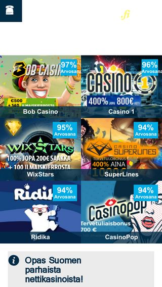 Mobile preview of bestcasinos.fi