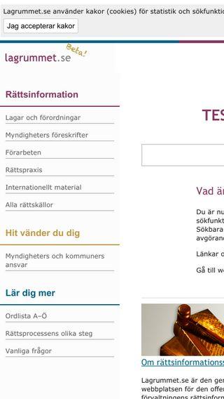 Mobile preview of beta.lagrummet.se