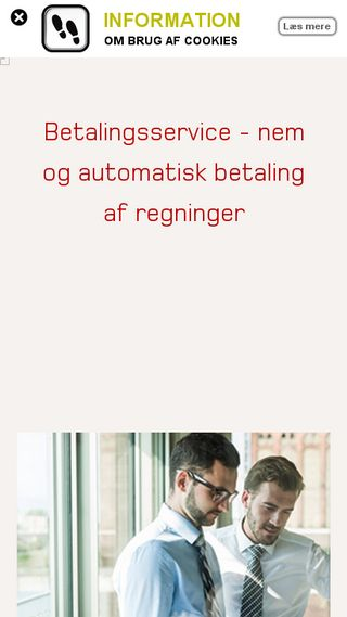 Mobile preview of betalingsservice.dk