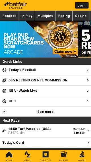 Mobile preview of betfair.se