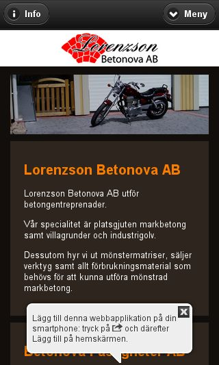 Mobile preview of betonova.se