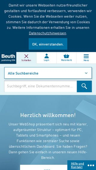 Mobile preview of beuth.de