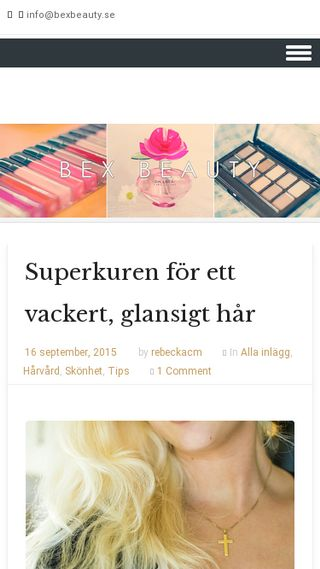 Mobile preview of bexbeauty.se