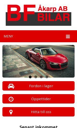 Mobile preview of bfbilar.se