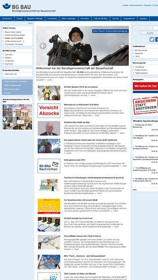 Mobile preview of bgbau.de