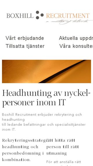 Mobile preview of bhill.se