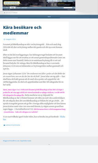 Mobile preview of bibelkunskap.se