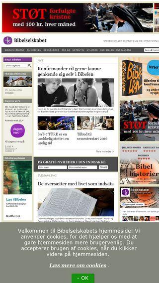 Mobile preview of bibelselskabet.dk