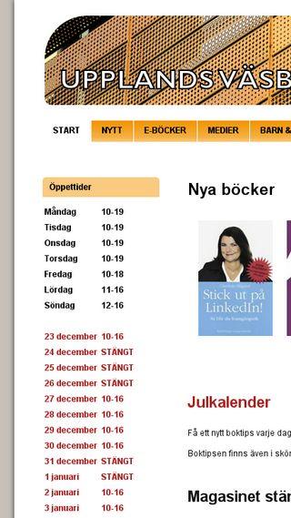 Mobile preview of bibliotek.upplandsvasby.se