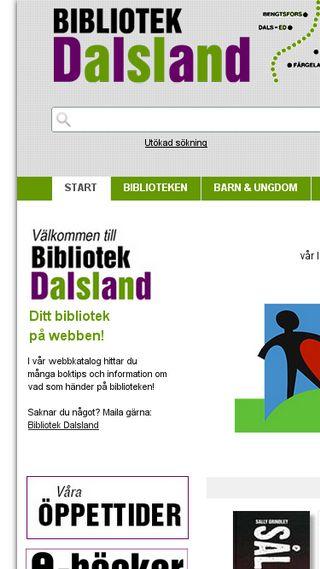 Mobile preview of bibliotekdalsland.se