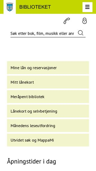 Mobile preview of biblioteket.trondheim.kommune.no