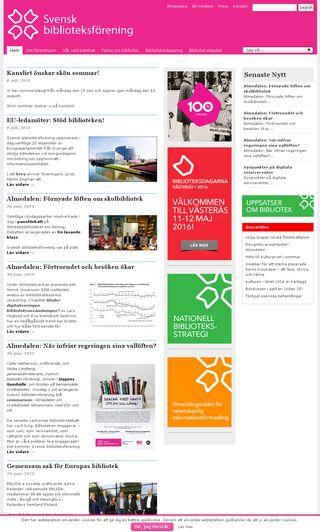 Mobile preview of biblioteksforeningen.se