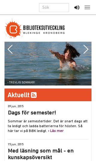 Mobile preview of biblioteksutveckling.se