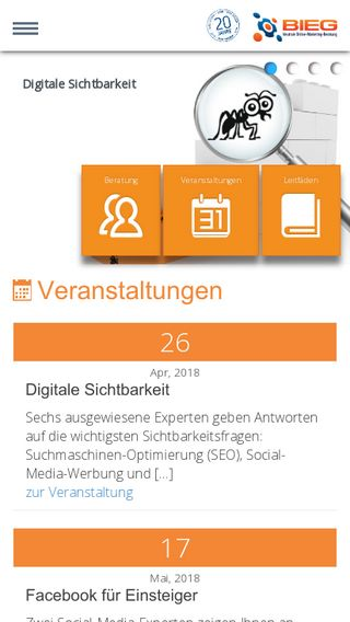 Mobile preview of bieg-hessen.de