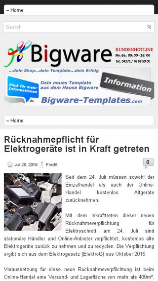 Mobile preview of bigware.de