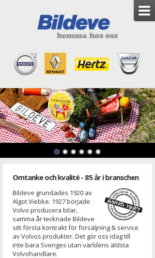 Mobile preview of bildeve.se