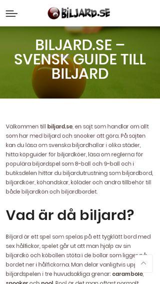 Mobile preview of biljard.se