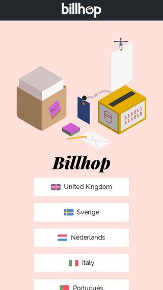 Mobile preview of billhop.com