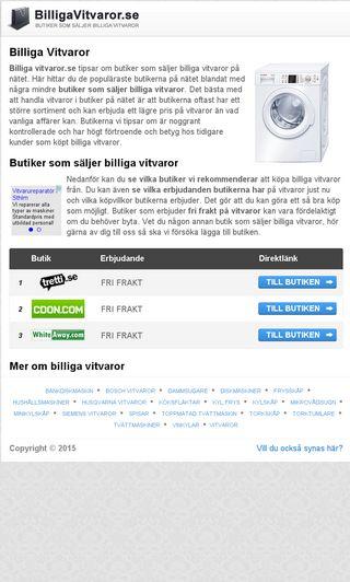 Mobile preview of billigavitvaror.se