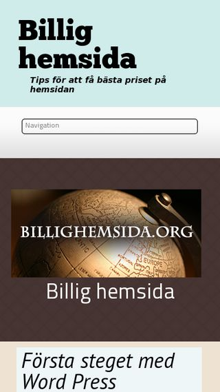 Mobile preview of billighemsida.org
