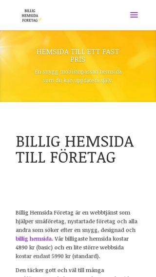 Mobile preview of billighemsidaforetag.se