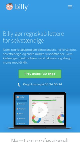 Mobile preview of billy.dk