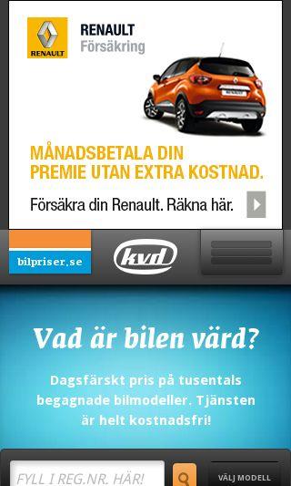Mobile preview of bilpriser.se
