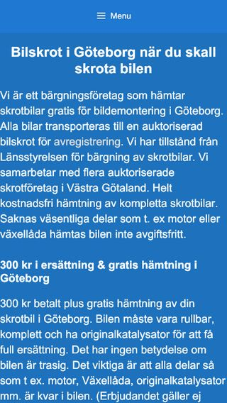 Mobile preview of bilskrotgbg.se
