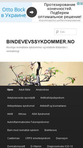 Mobile preview of bindevevssykdommer.no