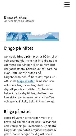 Mobile preview of bingopanatet.n.nu
