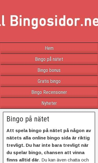 Mobile preview of bingosidor.net