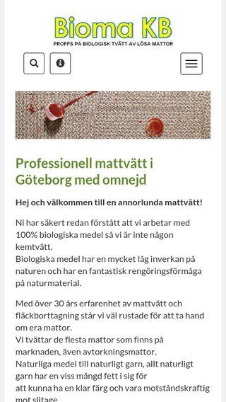 Mobile preview of biomakb.se