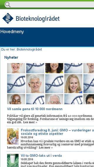 Mobile preview of bioteknologiradet.no