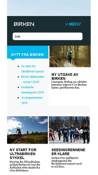 Mobile preview of birkebeiner.no