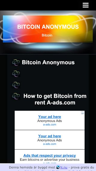 Mobile preview of bitcoinannonymous.n.nu