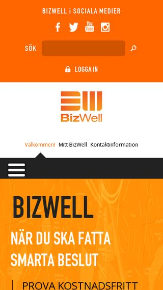 Mobile preview of bizwell.se