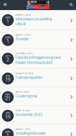 Mobile preview of bjerketaekwondo.no