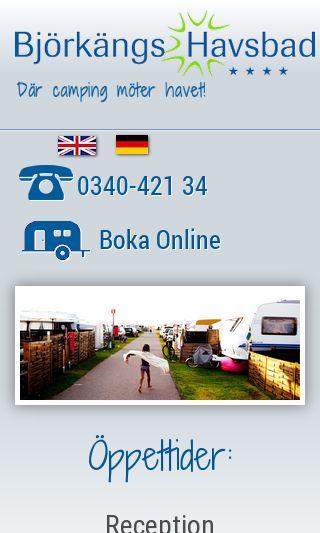 Mobile preview of bjorkangshavsbad.se