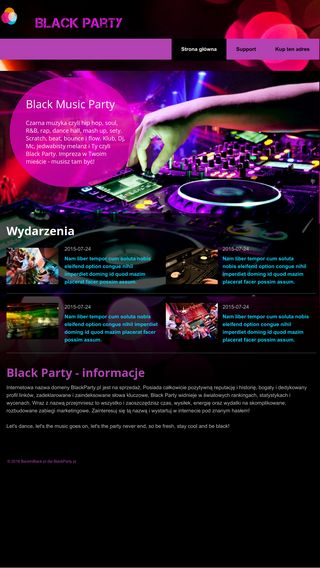 Mobile preview of blackparty.pl