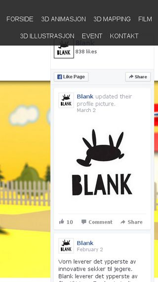 Mobile preview of blank.no