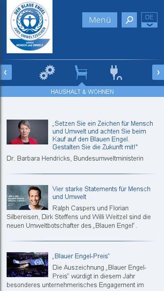 Mobile preview of blauer-engel.de