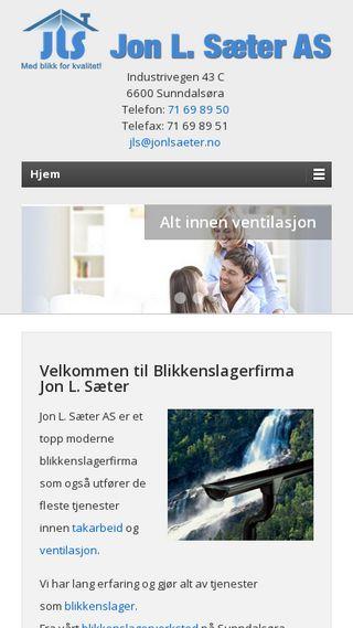 Mobile preview of blikkenslagerfirma.no