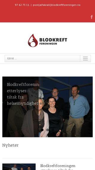 Mobile preview of blodkreftforeningen.no