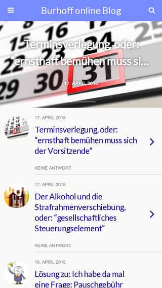 Mobile preview of blog.burhoff.de