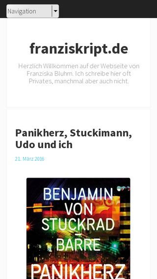 Mobile preview of blog.franziskript.de