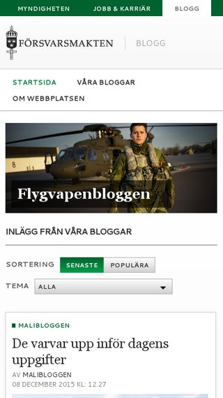Mobile preview of blogg.forsvarsmakten.se