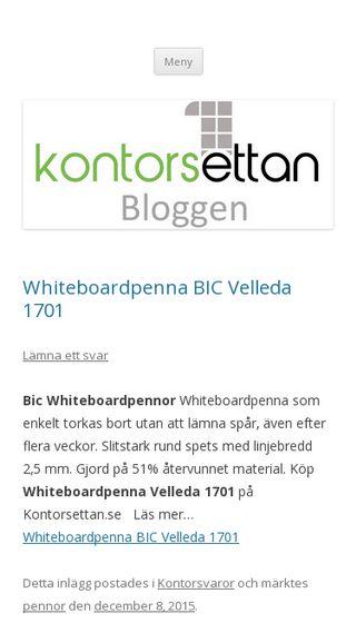 Mobile preview of kontorsettan.wordpress.com