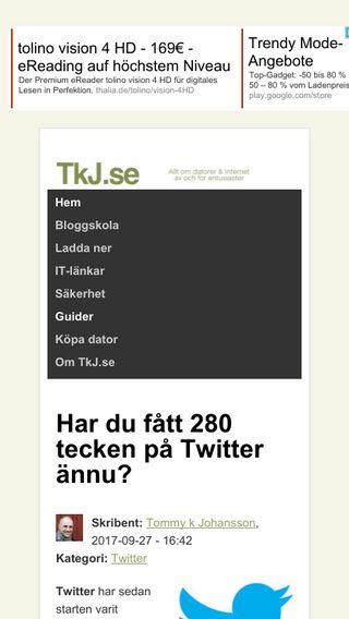 Mobile preview of blogg.tkj.se