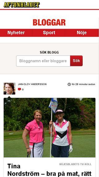 Mobile preview of bloggar.aftonbladet.se