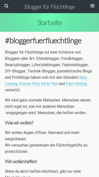 Mobile preview of blogger-fuer-fluechtlinge.de